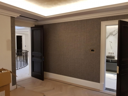 Chigwell Project- Elitis, Arte ,Tektura and Phillip Jeffries Wallcovering Installation.