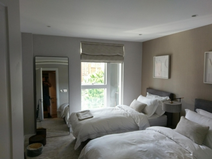 Chelsea -three  3   bedroom  flats  -wallpapering and painting