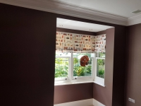Totteridge Project - Tektura wallcovering installation  and paint