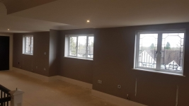 Northwood private house - Tektura wide  wallcovering installation & hanging